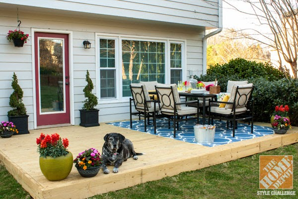 Backyard patio designs for small houses for Deck decorating ideas on a budget