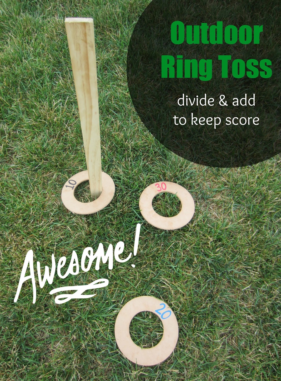 Exceptional Outdoor Ring Toss Game [Division/Addition]