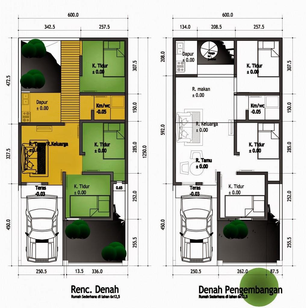 Desain Rumah Minimalis 2 Lantai 6 X 12