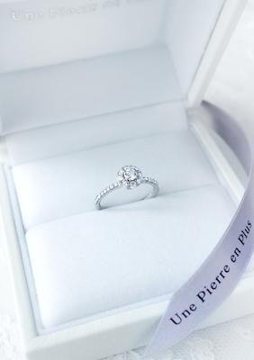 銀座一丁目オーダージュエリーサロンで作ったリスタイルエンゲージリング(婚約指輪)。