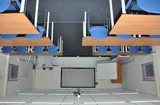 classroom that has been flipped upside down