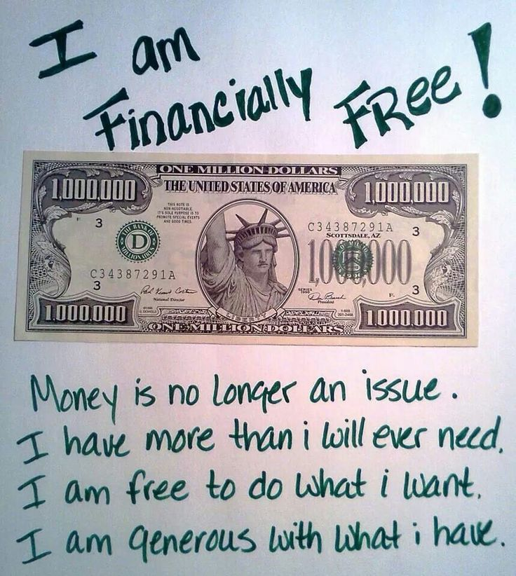 financially free affirmation