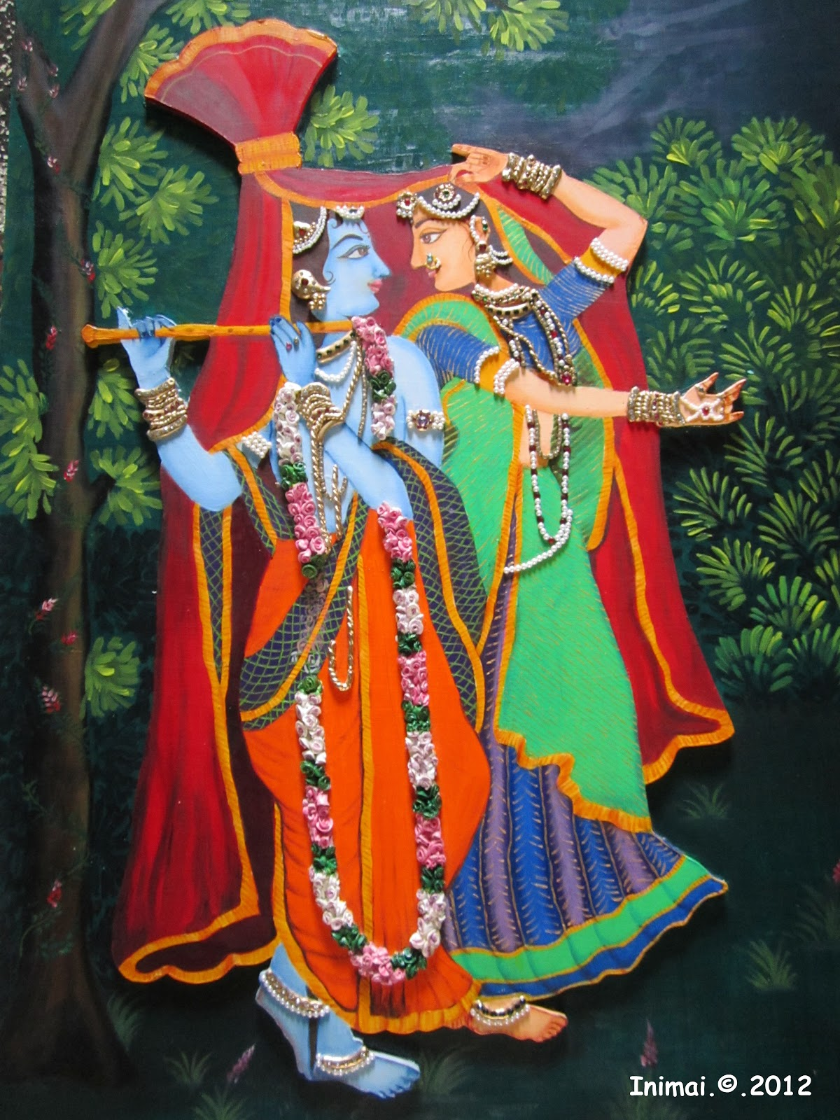 I spot mural paintings for Mural radha krishna