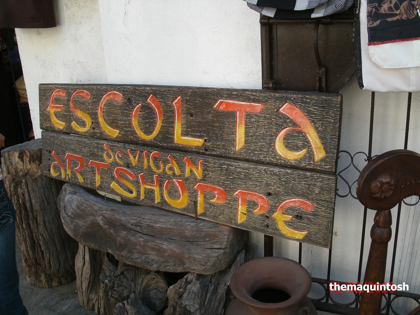 Signage of one of the souvenir shops along Calle Crisologo.