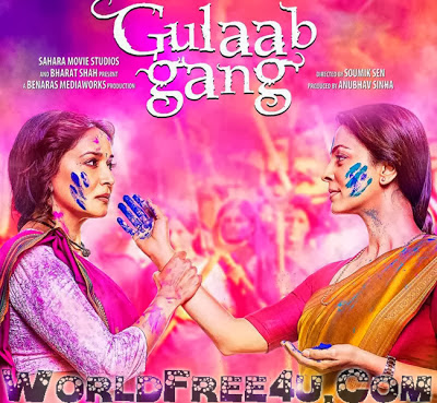 Poster Of Bollywood Movie Gulaab Gang (2014) 300MB Compressed Small Size Pc Movie Free Download worldfree4u.com