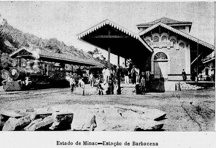 ESTAÇAO FERROVIARIA DE BARBACENA 1906