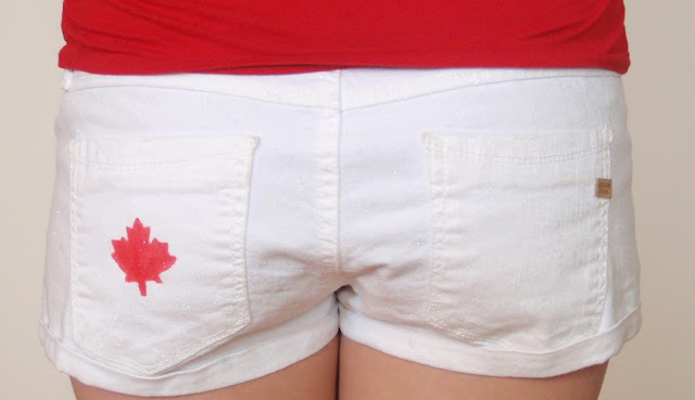 diy, canada day, canada day shorts, canada day crafts, what to on canada day, canada day attire, DIY canada day, how to create canada day shorts, Canada day attire