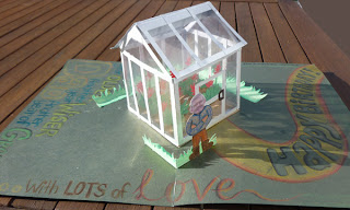 greenhouse pop up card