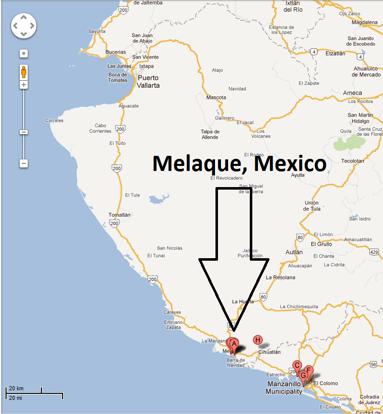 this year we travel to the pacific coast to a small community called melaque just about an hour south of puerto vallarta