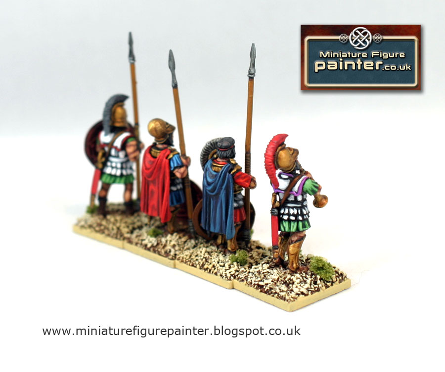 Hoplites command 5th to 3rd century BCE painted by Miniature Figure Painter