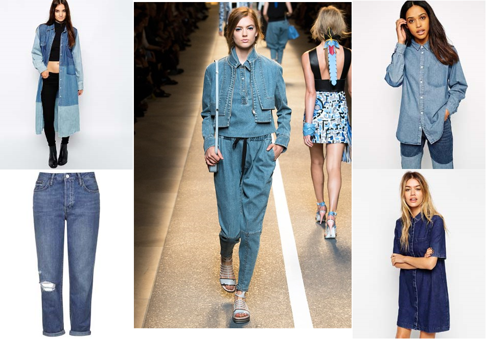 ss15 trend double denim fashion blog