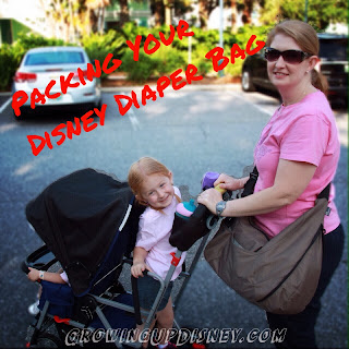 Walt Disney World diaper bag, Disney packing list
