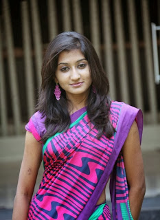 Akshya in beautiful purple saree and blouse homely girl 100  Pics