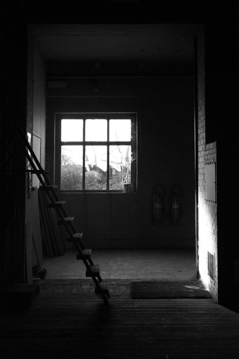 photo, escabelle, escabeau, fenêtre, step ladder, window, © dominique houcmant