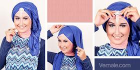 Cara Memakai Jilbab Pashmina Turban