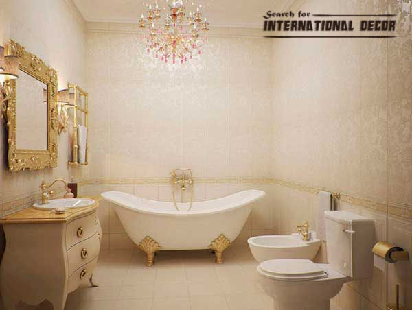 How to design luxury bathroom in classic style for Bathrooms in style