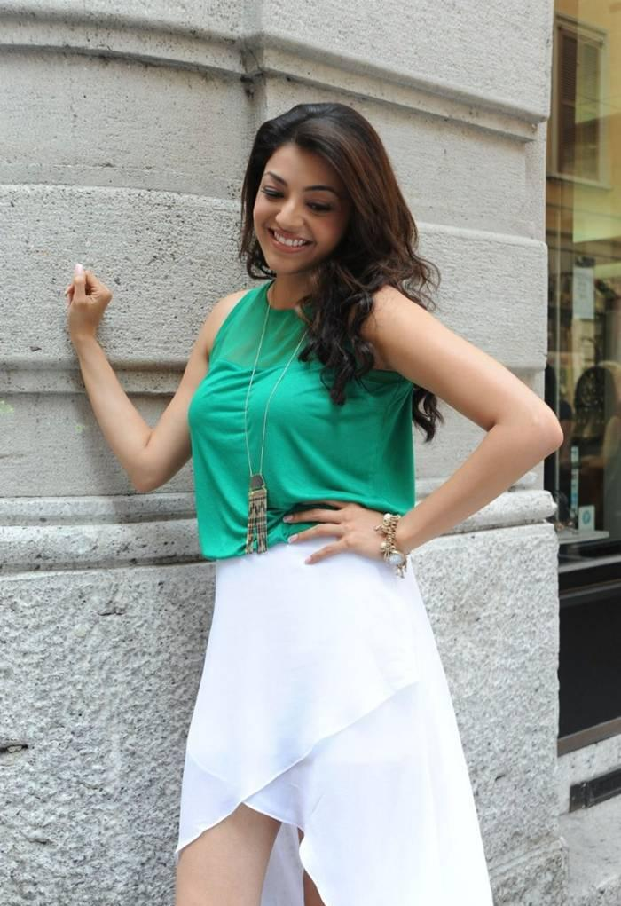 Kajal Agarwal Smiling Photoshoot