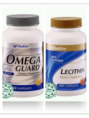 omega guard dan lecithin set Shaklee turun berat badan shaina shop