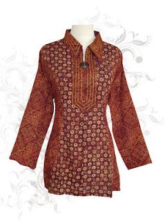 Model Blus Batik Modern