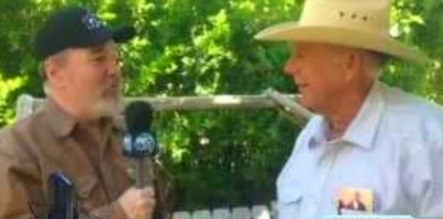 Cliven Bundy (right) got national press and 'militia' backing for ignoring federal  laws.
