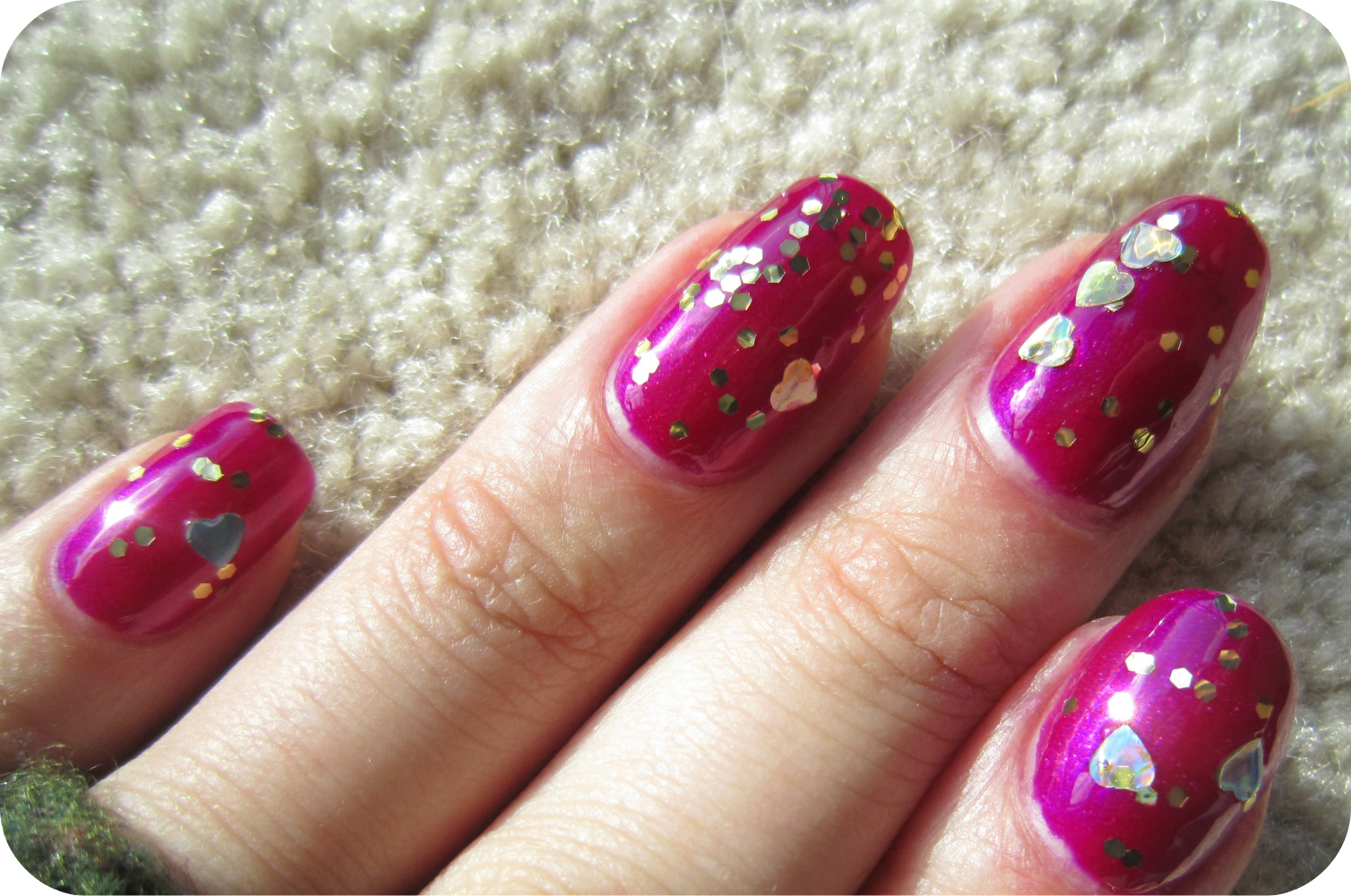 Concrete and Nail Polish: Sation Violet Flare & Juicy Couture Gold ...