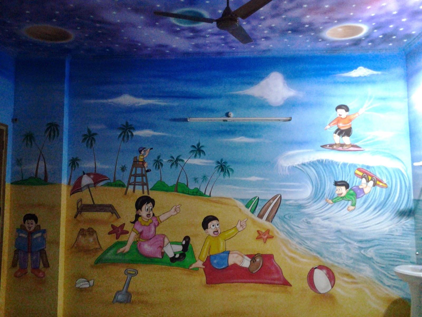 School Wall Painting Play School Wall Painting 3d Cartoon