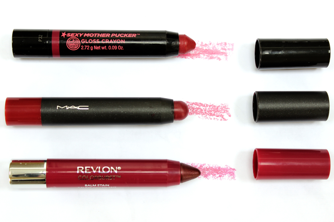 Soap and Glory, MAC and Revlon Berry Lip Crayons