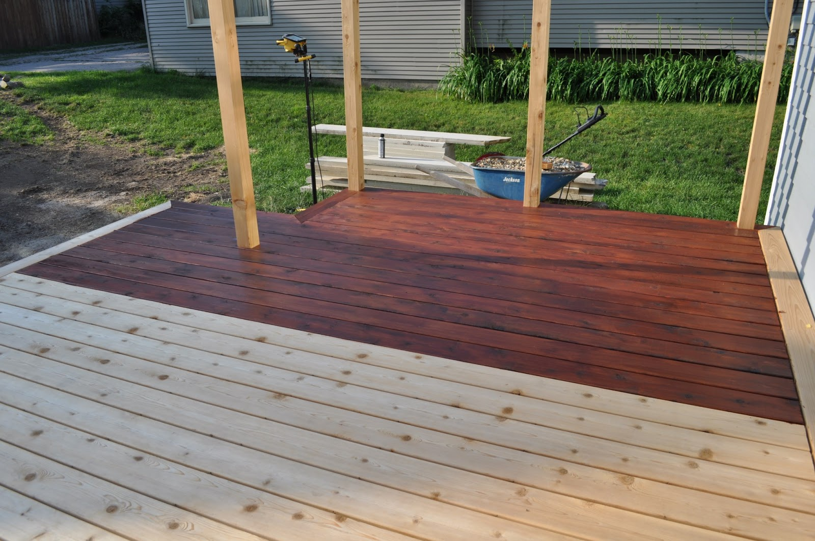 Exterior update swoon interiors for Exterior timber decking