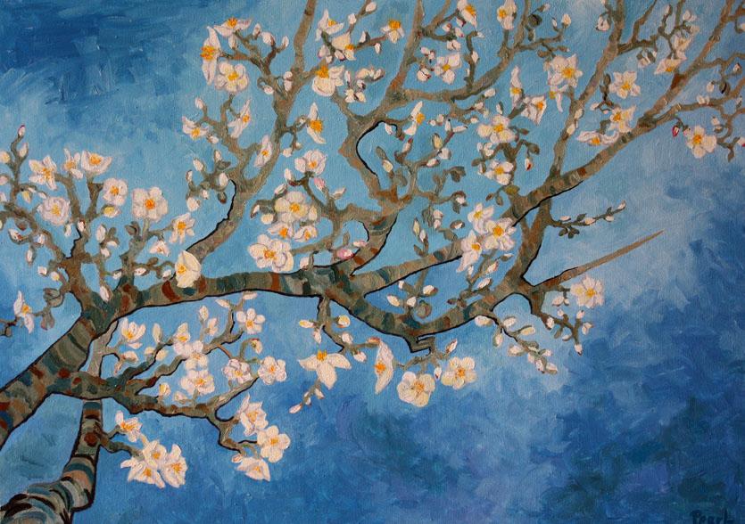 Landschaftsmalerei impressionismus  2010/11: Landschaft mit Apfelblüten