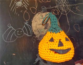 Calabaza de ganchillo para halloween