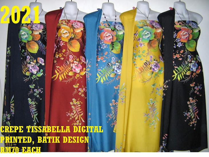 CTD 2021: BATIK CREPE TISSABELLA DIGITAL PRINTED, EXCLUSIVE DESIGN, 4 METER
