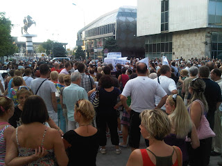 Аман! Протест во Скопје - плоштад