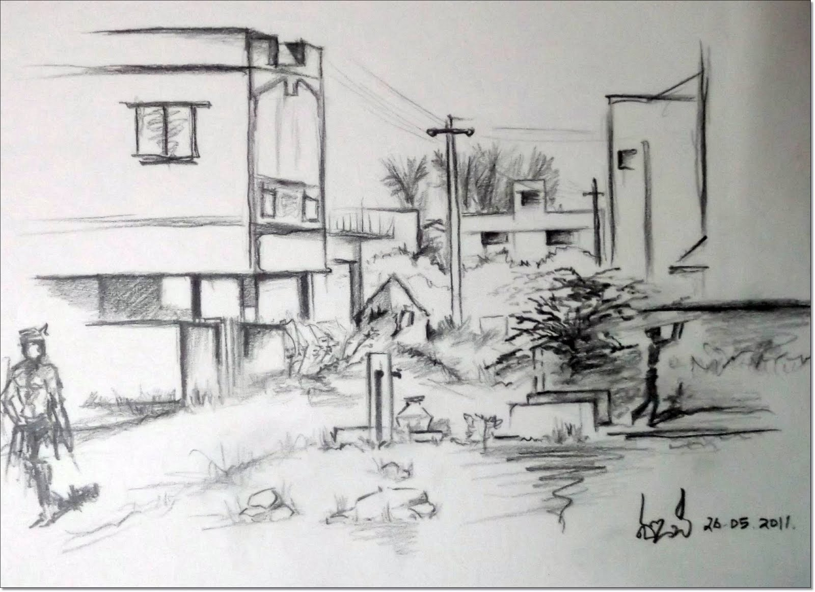 Art By Vijay: live sketching from my site