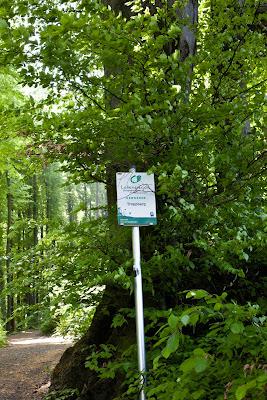 Hinweistafel auf den Biosphärenpark