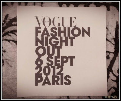 Vogue Fashion Night Out - septembre 2012 Bernardaud