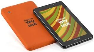 Ypy Kids tem tela de 7 polegadas e sistema operacional Android Ice Cream Sandwich.