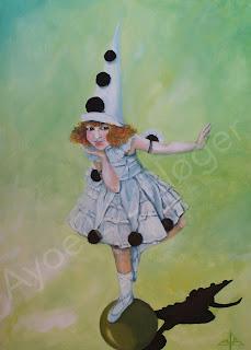 kunst, maleri,art,graphic,illustration,pige,akryl,olie,lærred,grøn,farve,colour,bold,styrke,indre,
