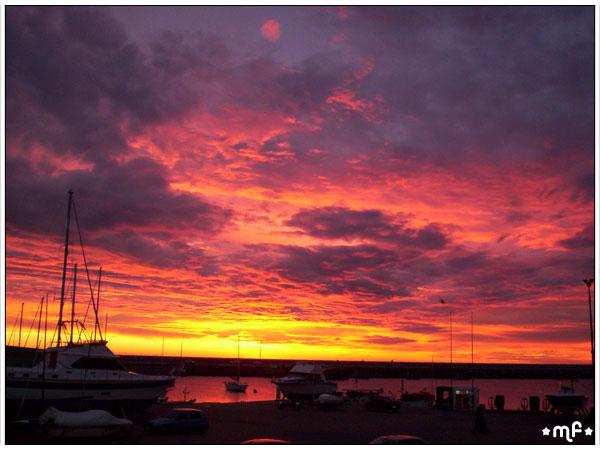 Crepúsculo en la bahía