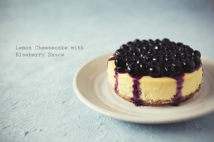 Lemon Cheesecake with Blueberry Sauce | Jasmine Tea