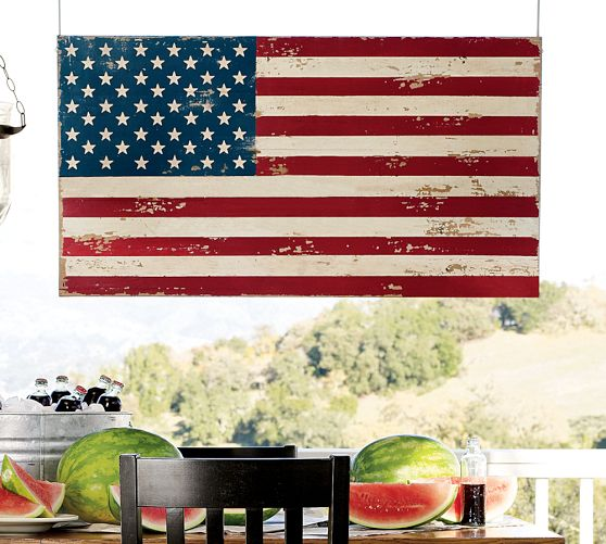 DIY Pottery Barn Flag Knockoff