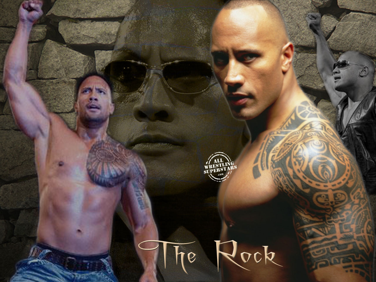Wrestling Hits: The Rock Wallpaper