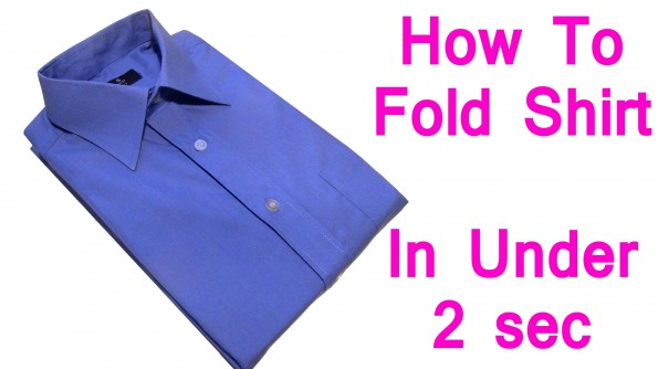 How to fold a shirt in under 2 seconds video damn cool for Japanese way to fold shirts
