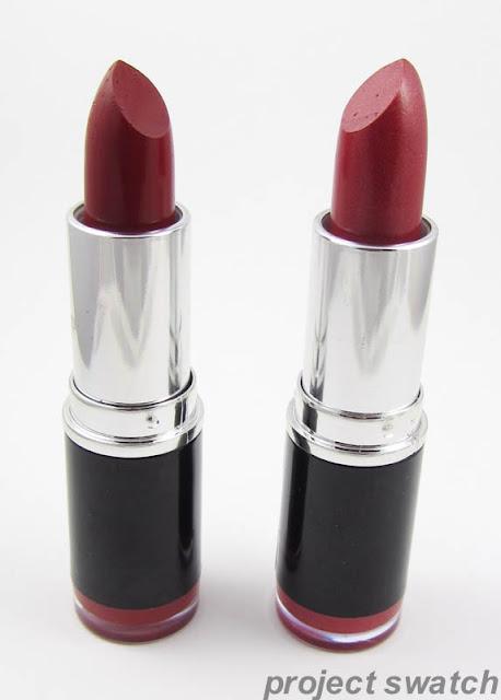 MUA Lipstick; Shade 1, Shade 8