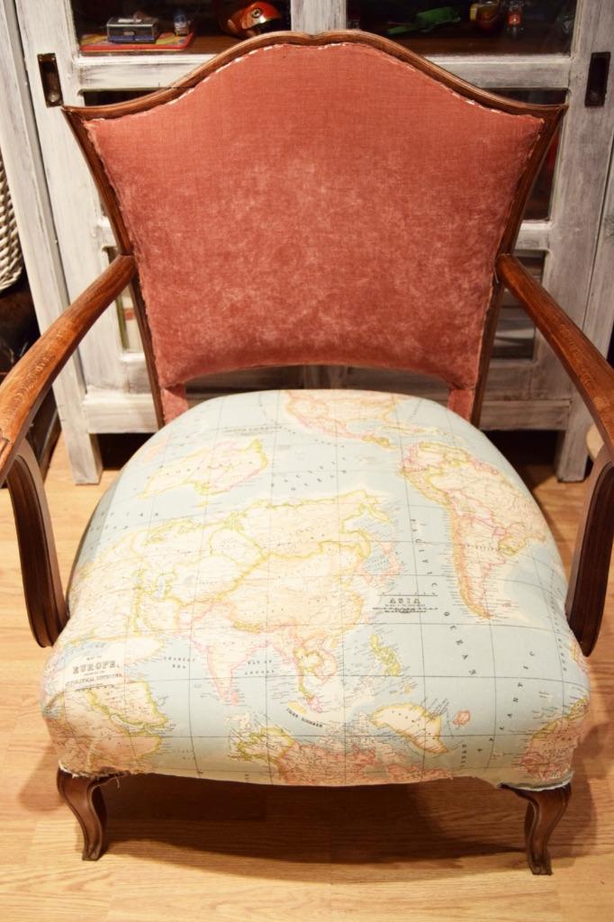 C mo tapizar una butaca t mismo s l o a n e s t r e e t - Como tapizar una silla con respaldo ...