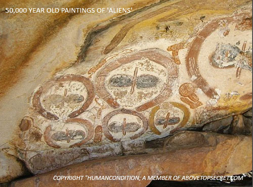 The mysterious Aboriginal rock art of the Wandjinas – Extraterrestrial or not  Wandjinas-extraterrestrials-3