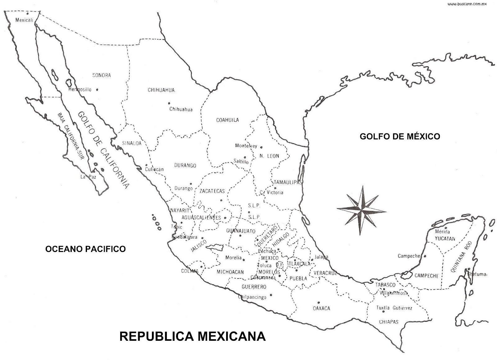 Mapa De México Orográfico Hidrográfico Con Sin Nombres CGsign - Mapa de mexico