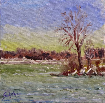 Schifano, water painting, plein air, Niagara artist