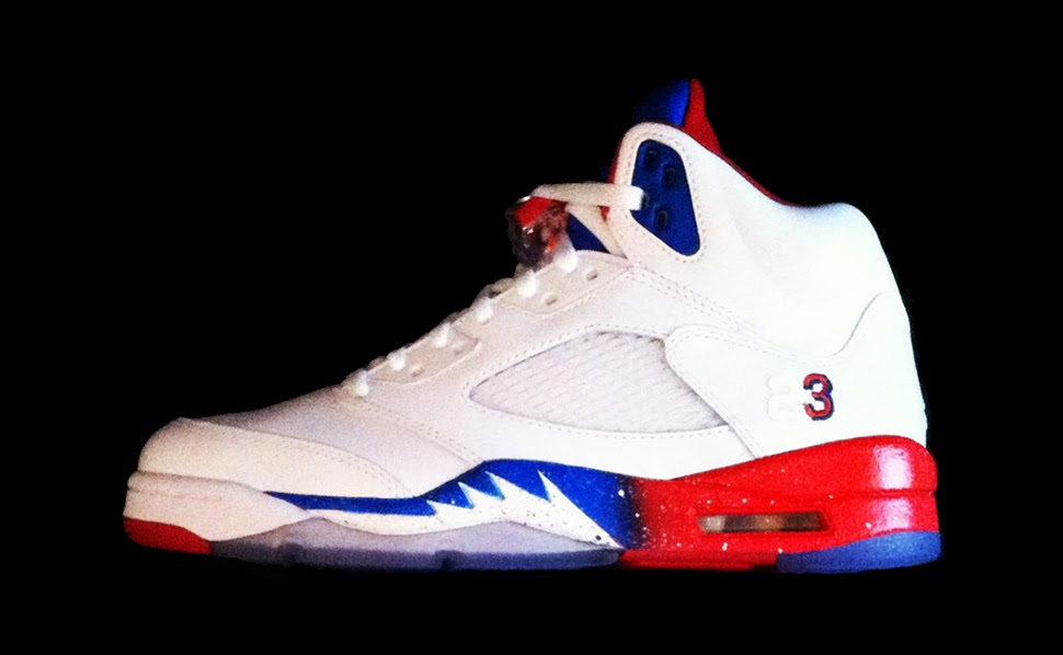 """ba74c0d2afe810 A Chris Paul colorway gets staring credit on the Air Jordan 5 """"CP3 Edition""""  Custom. Crafted by Sole on Canvas"""