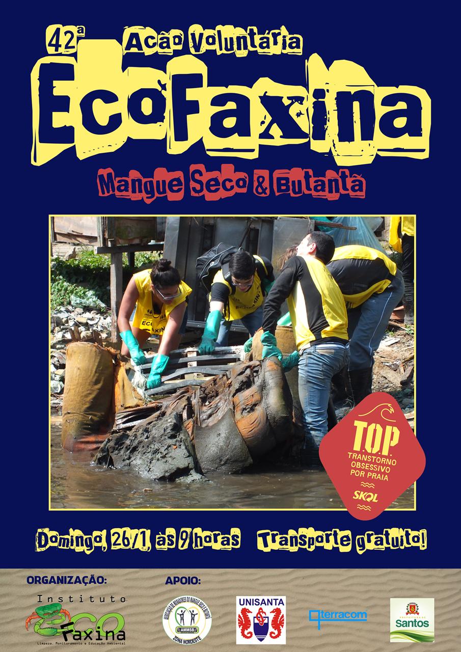 Cartaz da 42ª Ação Voluntária EcoFaxina. Clique para ampliar.
