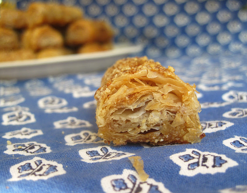 Almond Baklava at www.naturalsweetrecipes.com
